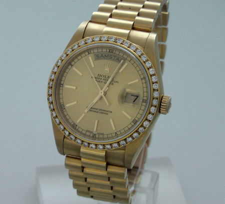 rolex or homme
