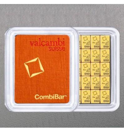 Lingot tablette CombiBar Or 50x1g Valcambi ph1