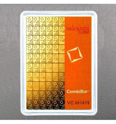 Lingot tablette CombiBar Or 100x1g Valcambi ph1