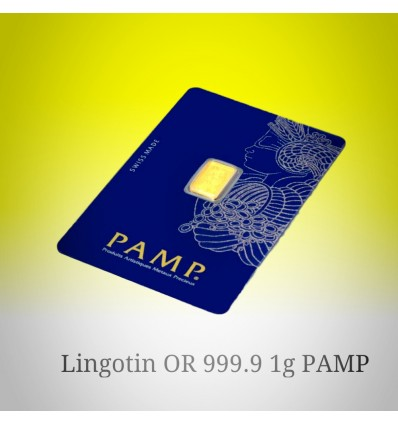 lingotin Or 1g 'Fortuna' PAMP