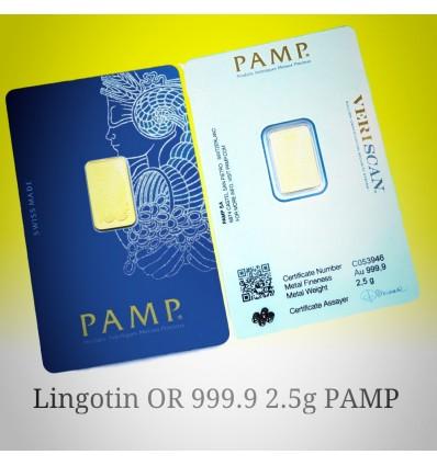 lingotin Or 2.5g 'Fortuna' PAMP