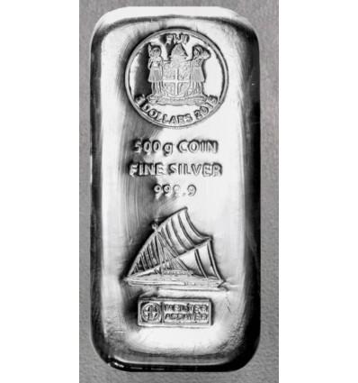 Lingot monnaie Argent 999.9 Fiji 500 grs