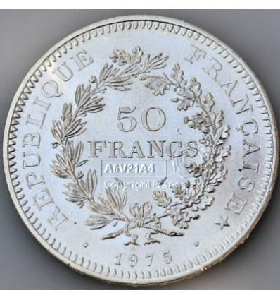 pièce de monnaie Hercule 50 Francs Revers