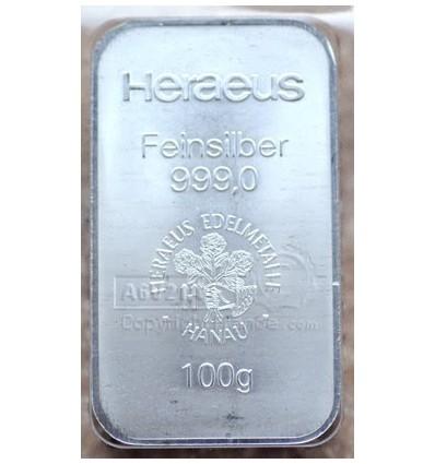 lingot métal Argent 100g