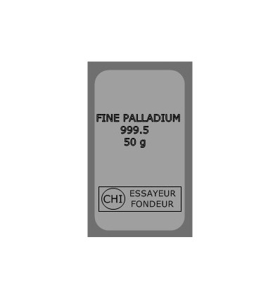 Lingot Palladium 50g