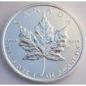 Maple Leaf pièce Canadienne en Argent (avers)