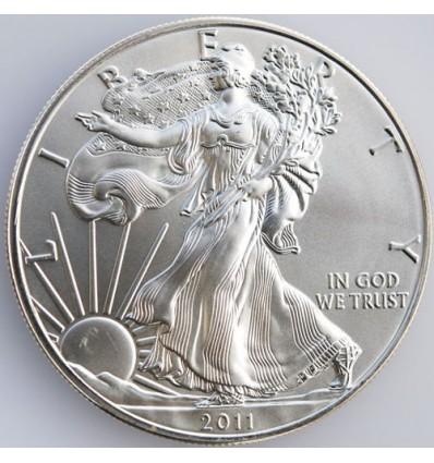 Silver Eagle: pièce américaine en Argent (avers)