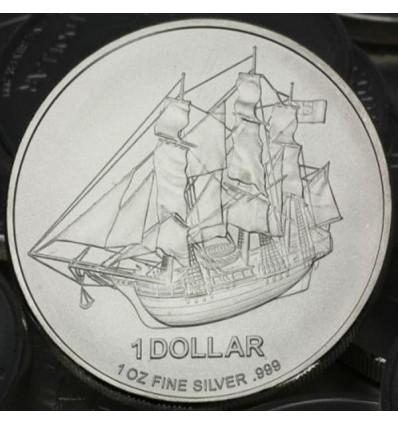 Pièces argent Îles Cook Bounty 500 x 1 once