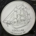 Pièce argent Îles Cook Bounty 500 x 1 once