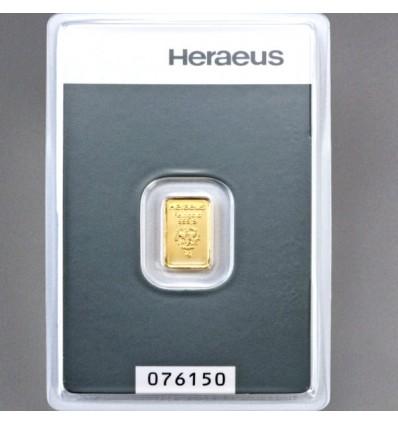 lingotin Or 1g Heraeus
