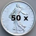 Pack 50 pièces Semeuse 5 Frs (500 g d'Argent)