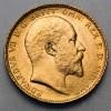 Pièce de monnaie Or souverain Edouard VII