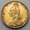 Pièce de monnaie Or souverain Victoria Adulte
