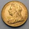 Pièce de monnaie Or souverain Victoria agee