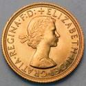 Pièce Or souverain Elisabeth II
