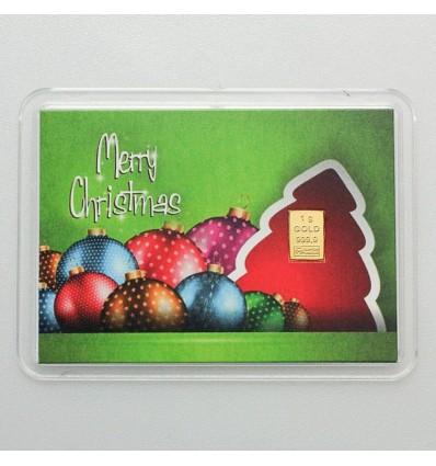 Lingot Or 999.9 1g Merry Christmas