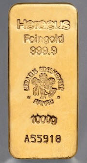 Lingot d'Or 1Kg HERAEUS