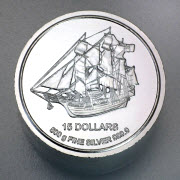 Pièce argent 999.9 Bounty Îles Cook 500g