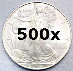 Pièce argent Liberty Eagle 1 once 500x