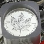 Tube 25 pièces argent Maple Leaf