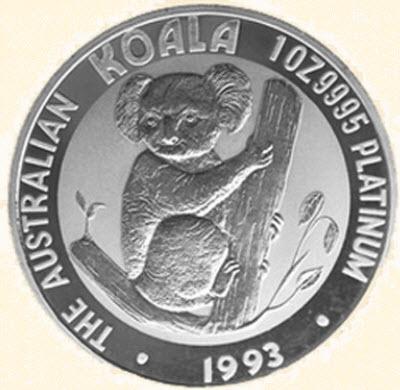 Pièce Platine once Koala