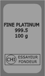 Lingot Platine 100g