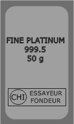 Lingot Platine 50g
