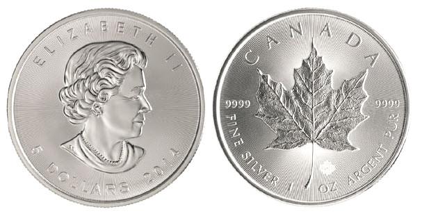 Nouvelle pièce argent Maple Leaf 2014